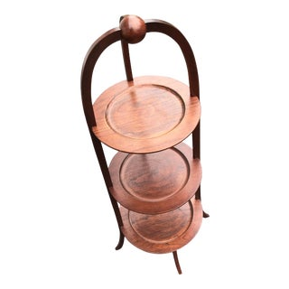Portable Three Tiered Etagere Muffineer. Tray Table For Sale