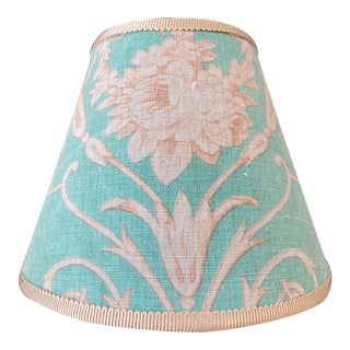 French Fabric Floral Print Night Light For Sale