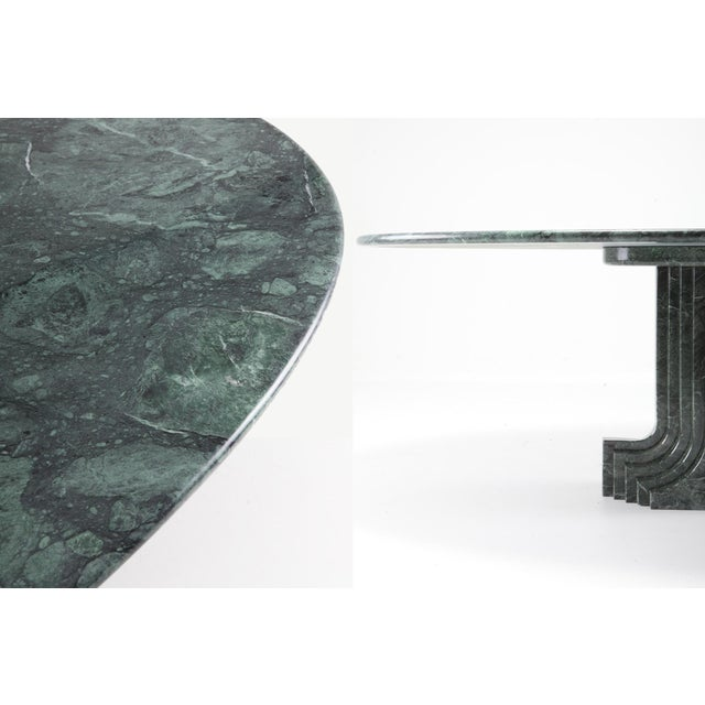 Carlo Scarpa Dining Table 'Samo' in a Rare Green Marble For Sale - Image 6 of 11
