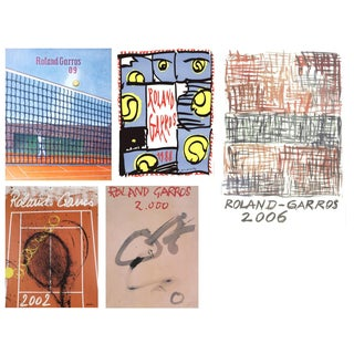 Bundle- 5 Assorted French Open Tennis Posters For Sale