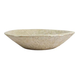 Carved Stone Dough Bowl For Sale
