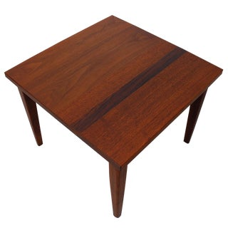 Mid-Century Teak Walnut & Rosewood Accent Table For Sale