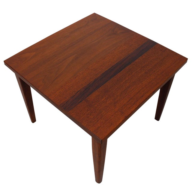 Mid-Century Teak Walnut & Rosewood Accent Table - Image 1 of 7