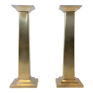 1980s Neoclassic Column Candlesticks - a Pair For Sale