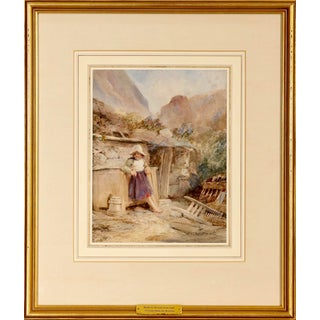 Early 19th Century Victorian Watercolor, Samuel Austin, 1796-1834 For Sale