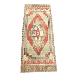 Vintage Turkish Oushak Rug-3'4'x8'1' For Sale