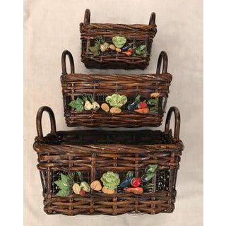 Mid-Century Modern Nesting Vegetable Baskets -Set of Three Preview