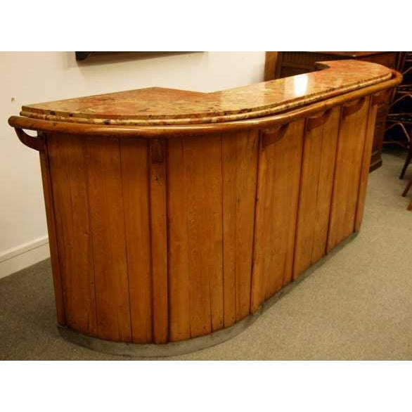 1930s French Art Deco Oak Bar - Image 4 of 10