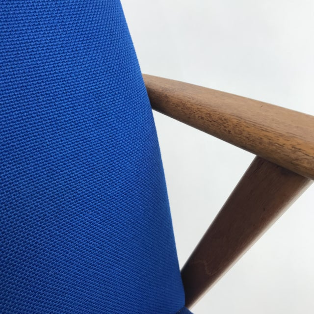 Royal Blue Swedish Modern Lounge Chair For Sale - Image 6 of 13