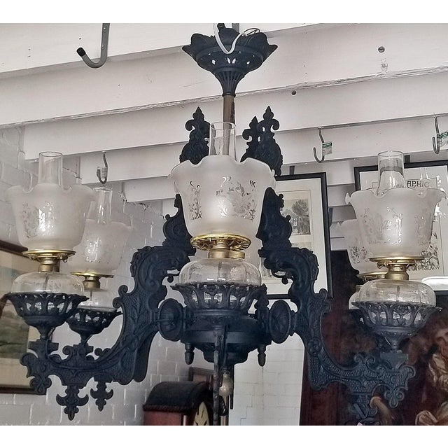 EXTREMELY RARE, FINE and QUALITY Bradley & Hubbard 6 arm Chandeliers from circa 1885. These Chandeliers were originally...