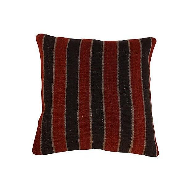 Striped Turkish Kilim Pillows - A Pair - Image 2 of 4