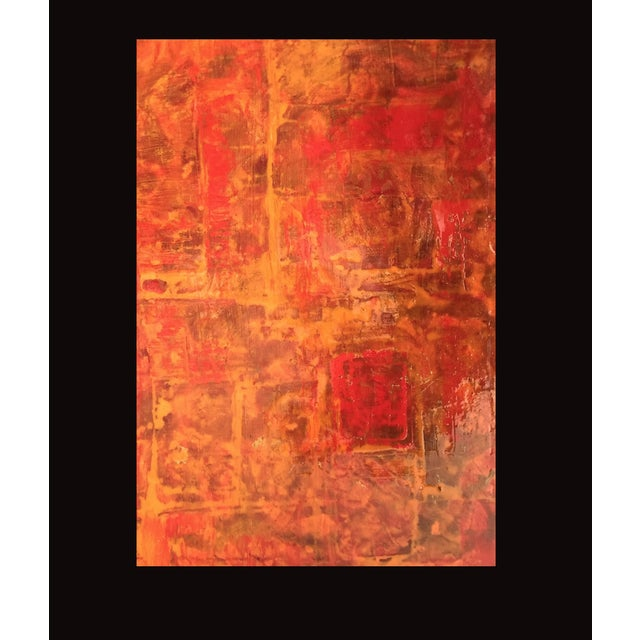 Bryan Boomershine Red-Orange Abstract Painting - Image 3 of 5