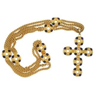 Kenneth J. Lane Large Cross Necklace For Sale