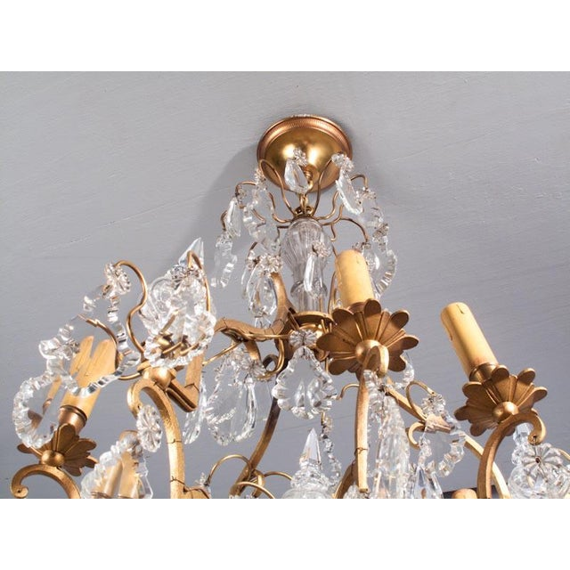 19th Century French Napoleon III Crystal Chandelier For Sale In Austin - Image 6 of 13