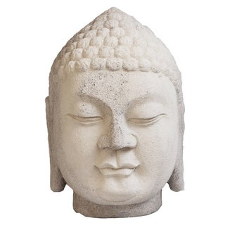 White Stone Buddha Head For Sale