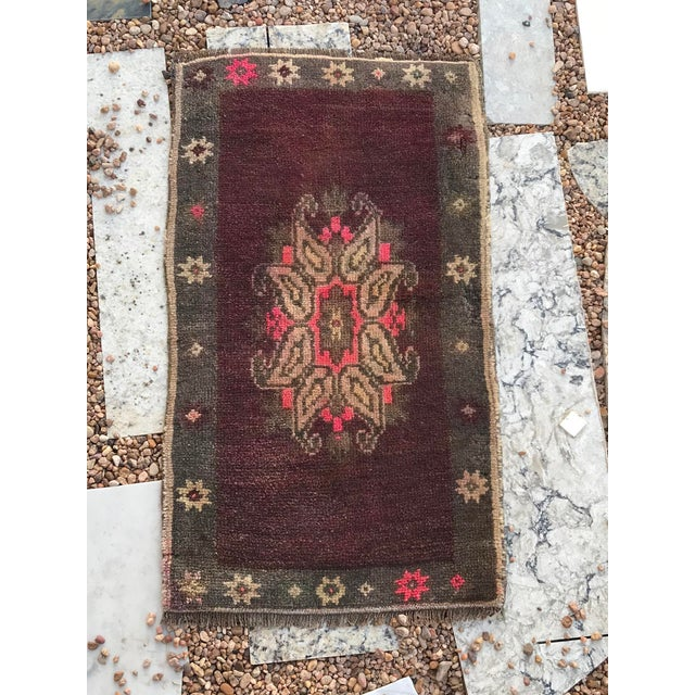 This mat has a unique European medallion. It will sure complement any room. This size is usually ideal for a vanity and/or...