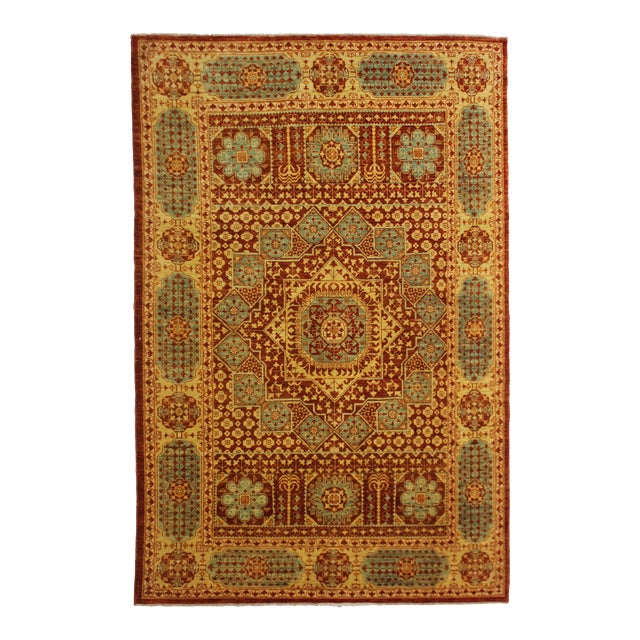 """Hand Knotted Mamlok Rug by Aara Rugs Inc. - 8'6"""" X 6'1"""" For Sale"""