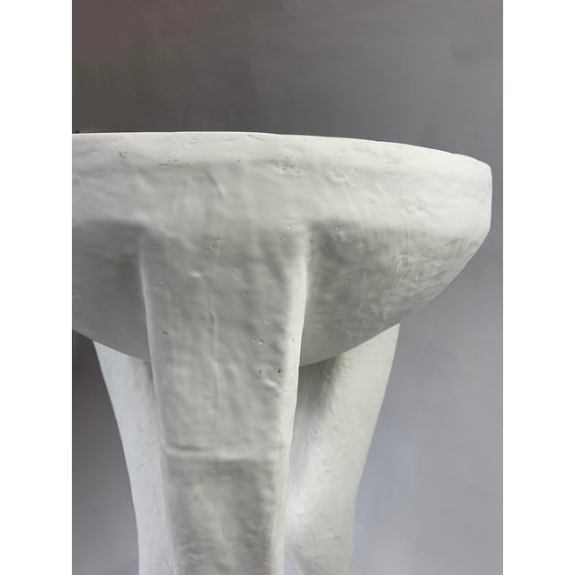Transitional 20th Century 3 Legged Hooves Side Table For Sale - Image 3 of 13