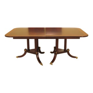 Traditional Henkel Harris Model Flame Mahogany Dining Room Table For Sale