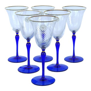 1960s Crystal Wine Glasses by Christian Dior-Set of 6 For Sale