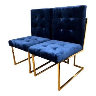 Mid-Century Modern Style Jonathan Adler Goldfinger Collection Chairs- A Pair For Sale