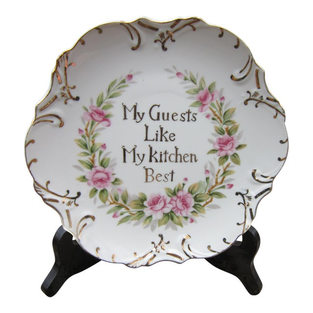 My Guests Like My Kitchen Best Decorative Plate