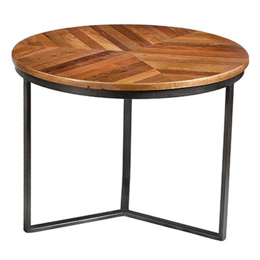 Iron & Wood Round Nesting Tables- Set of 3 - Image 2 of 2