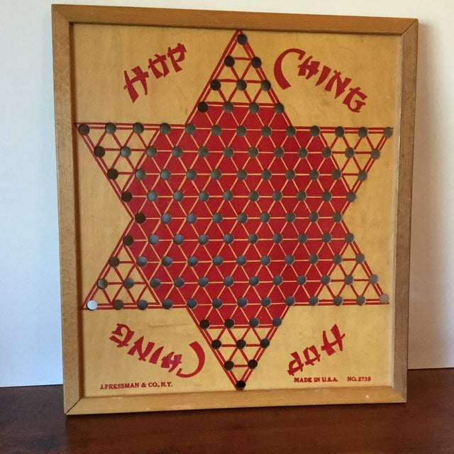 Vintage Wooden Chinese Checkers Board - Image 2 of 11
