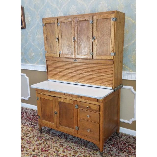 Antique Oak Sellers Indiana Hoosier Cabinet C1900 For Sale - Image 10 of 11