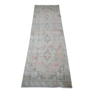 """Turkish Oushak Griege Runner 2'8"""" X 8'10"""" For Sale"""