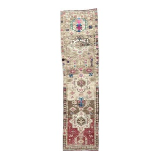 Vintage Turkish Oushak Runner For Sale