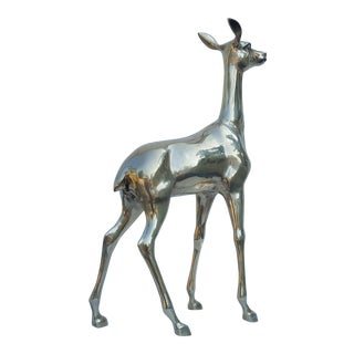1960's Brass Deer Sculpture
