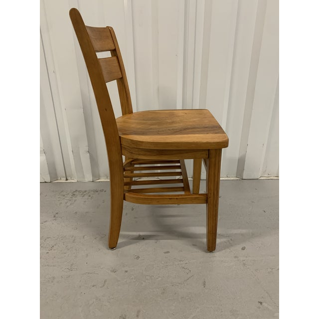 Vintage 1950s golden oak school chair by High Point Bending & Co. in Siler City, North Carolina. Classic school chair...