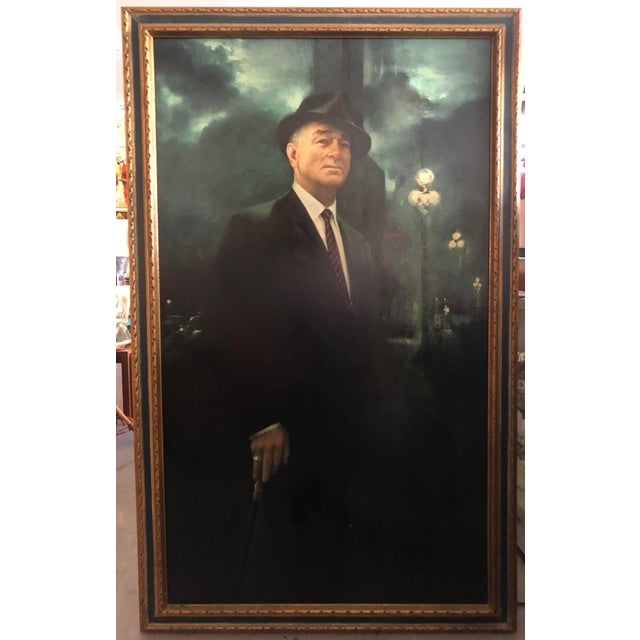XL Portrait by M Runci Dated 1965 For Sale - Image 9 of 9