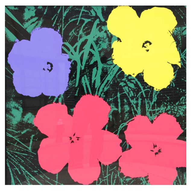 Andy Warhol Sunday B. Morning Flowers Prints - S/4 - Image 2 of 5