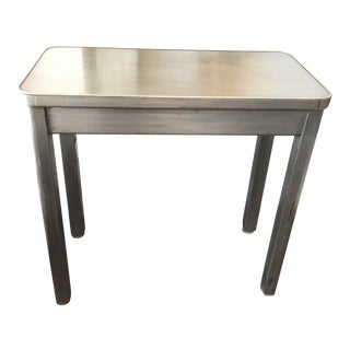 20th Century Industrial Metal Side Table For Sale