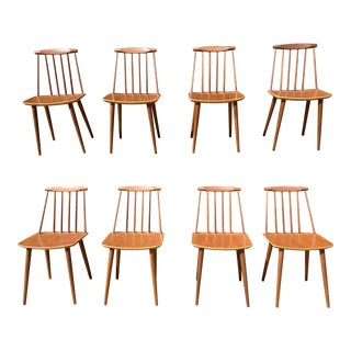 Danish Modern Teak Dining Chairs by Folke Palsson for Fdb Mobler - Set of 8 For Sale