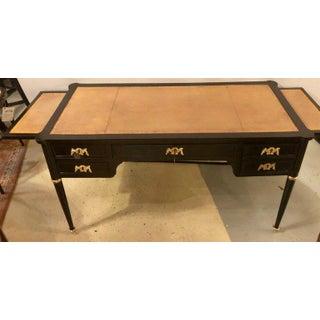Jansen Style Ebony Louis XVI Inspired Ebonized Leather Top Desk Bronze-Mounted Preview