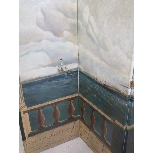 Item: MAITLAND SMITH Large 4 Panel Nautical Room Divider Age: Approx: 20 Years Old Details: High Quality Construction...