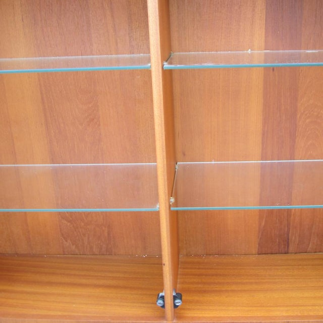 1960s 1960s Mid-Century Modern Teak Credenza With Glass Display Cabinet For Sale - Image 5 of 6