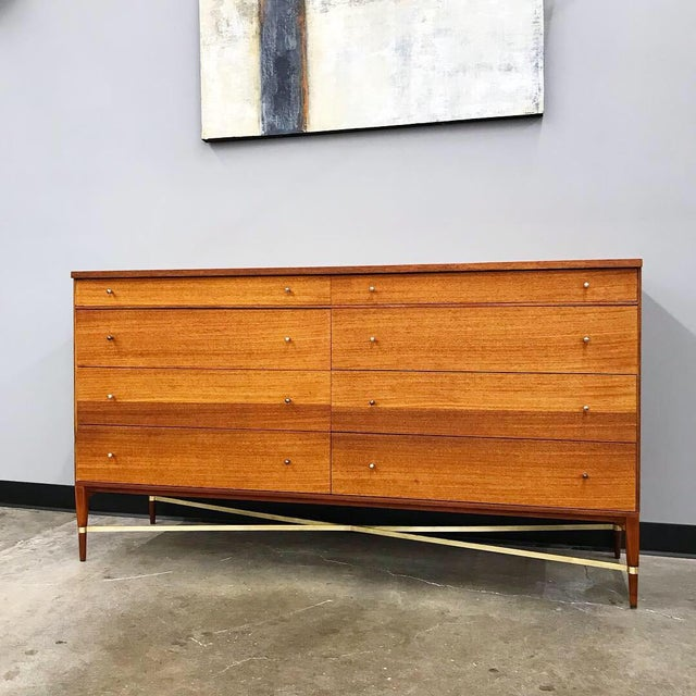 Newly Refinished 8 Drawer Mahogany Dresser by Paul McCobb for Calvin For Sale - Image 10 of 12