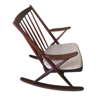 1960s Danish Modern Frank Reenskaug for Bramin Mobler Rocking Chair For Sale