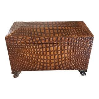 Maitland-Smith Wooden Crocodile Box