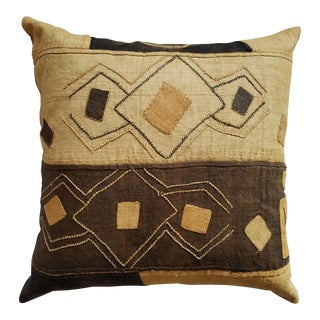 African Kuba Cloth Pillow For Sale