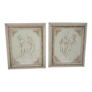 1970s Classical Wall Plaques - a Pair For Sale