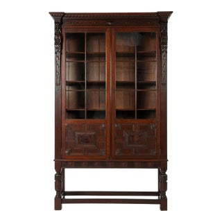 Late 19th Century Antique French Display Cabinet For Sale