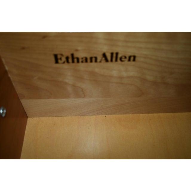 Vintage Ethan Allen Queen Anne Style Solid Cherry Flip Top Vanity For Sale - Image 12 of 13