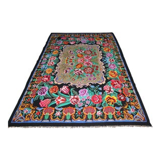 "Oriental Turkish Old Kilim Rug - 8' x 13'8"" For Sale"