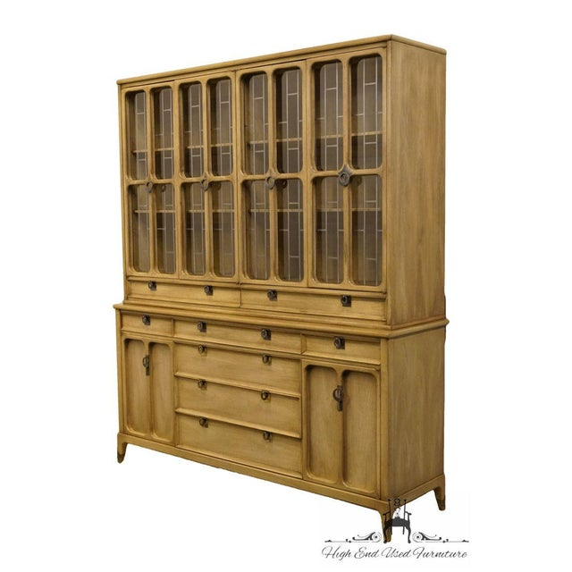 """Contemporary White of Mebane Contemporary French Style 67"""" China Cabinet For Sale - Image 3 of 13"""