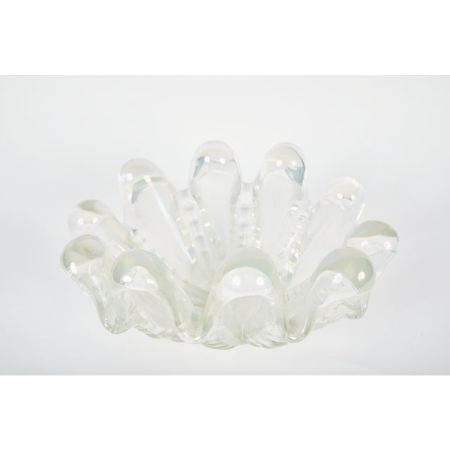 Mid 20th Century Mid-Century Murano Glass Clamshell Bowl For Sale - Image 5 of 6